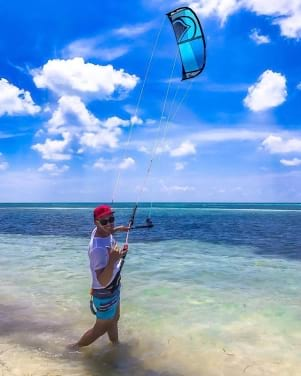 Perfect day for Kite Boarding in the lower Florida Keys