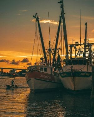 Shrimp boats in Fort Myers Beach