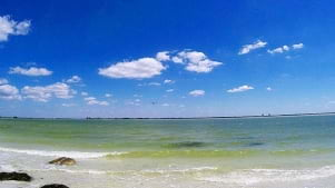 A perfect shot of Fort Myers Beach..
