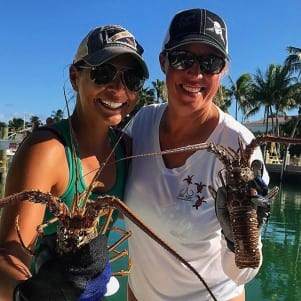 Big Lobsters in Key Largo.
