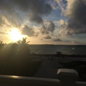 Beautiful sunrise in Magrove Cay.