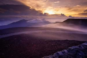 Sunrise from Haleakala National Park in Maui.