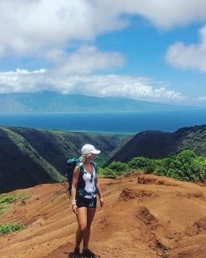 A beautiful day for a hike on Molokai