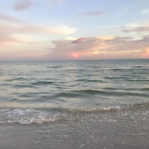 A soft colored sunset on Sanibel Island