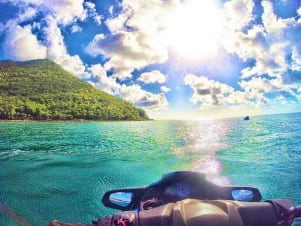 Cruisin the clear Caribbean waters of St. Lucia