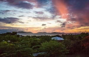 Colorful skies in Virgin Gorda.
