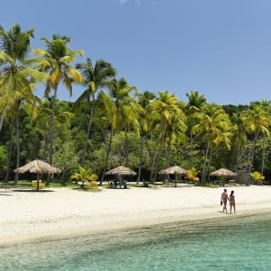 White sand beach in Water Island Paradise.